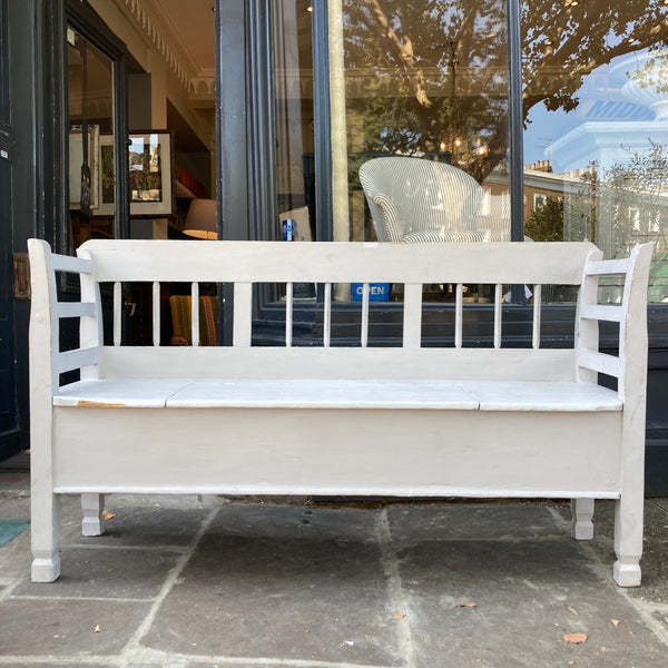 Antique Bench - Continental piece C1890- With large Storage  - Perfect for Dining or General storage and seating