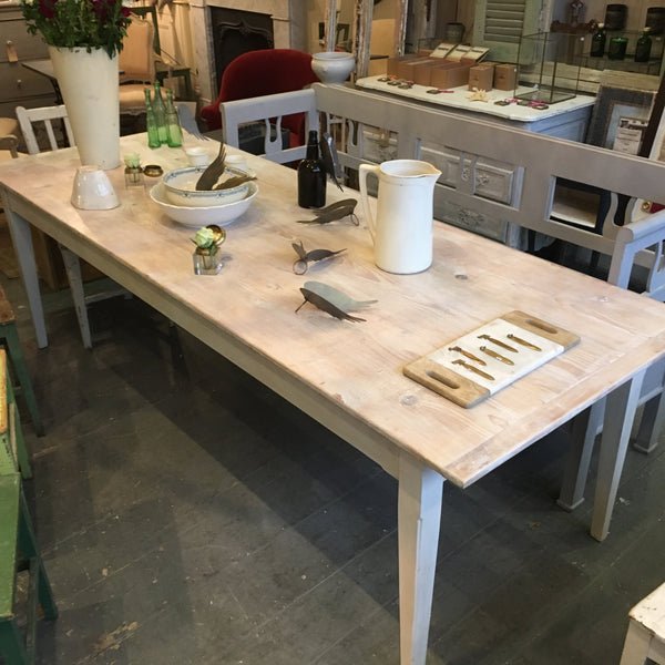 French dining table - line wash - seats 12