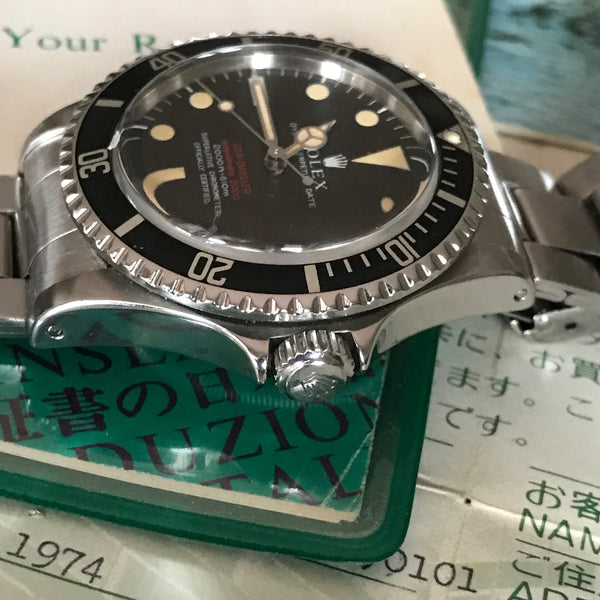 Rolex - Double Red Sea-Dweller 1665 Mark II Chocolate dial Full Set