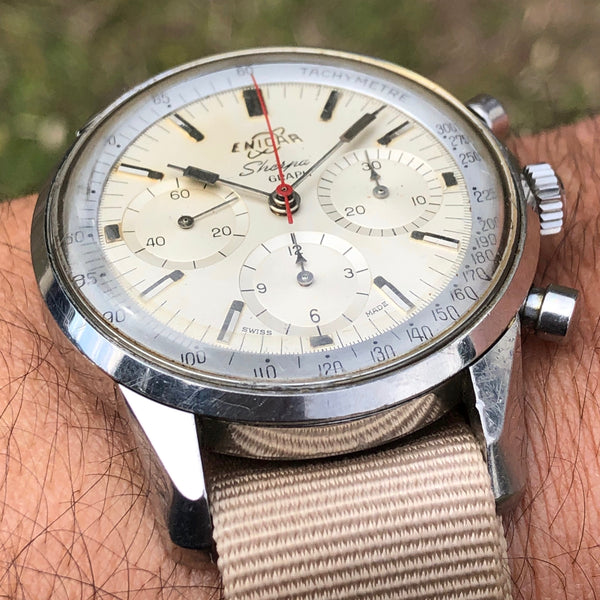 "Enicar - Sherpa Graph called ""Jim Clark"" 1960's"