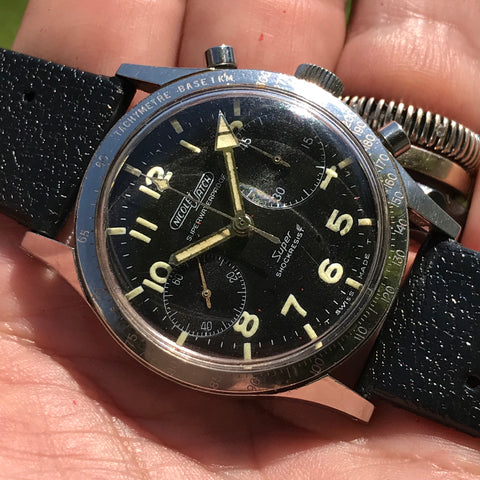 Nicolet Watch - Super Waterproof 1960's S/S Chronograph