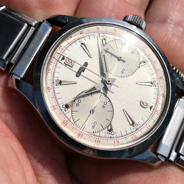 Nicolet Watch - 1960 Coaxial Chronograph rare all crown functions