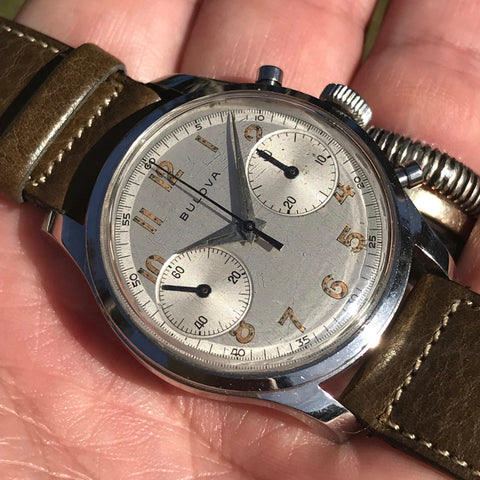"Bulova - ""‪Big Eyes‬"" Chronograph 1950's"