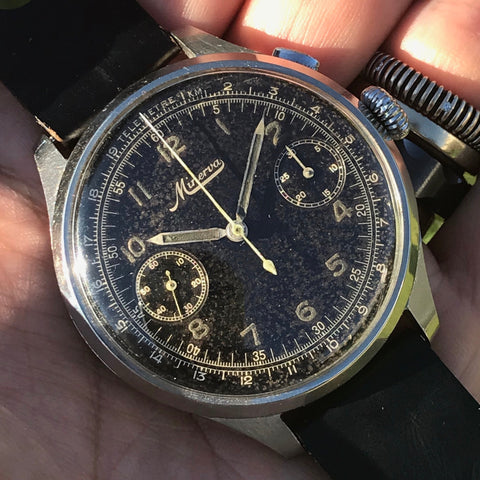 Minerva - Oversize single button Chronograph circa 1940
