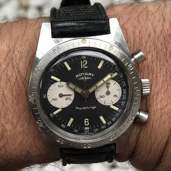 Rotary - Aquaplunge diver reverse panda dial 37.5 mm case