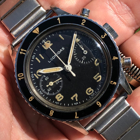 Leonidas - CP1 chronograph 1964 AMI (italian airforce) issued bakelite bezel - ON HOLD