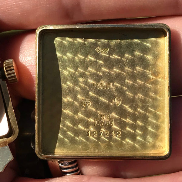 Gubelin - 1950's Gubelin Square 18K solid yellow gold
