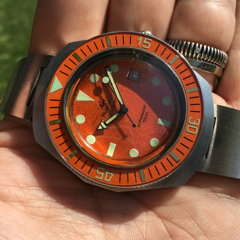 Philip Watch - Caribbean Professional 1500 with original bracelet