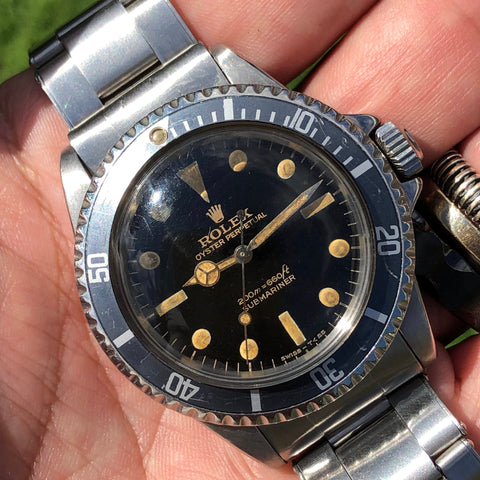 "Rolex - Submariner Ref. 5513 ""Bart Simpson"" Gilt dial 1960s"