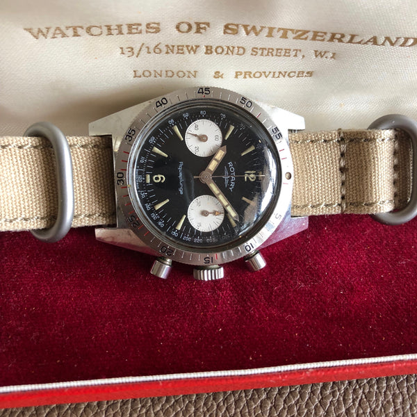 Rotary - Aquaplunge 1960s diver Chronograph from 60s with box