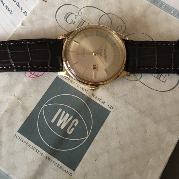 IWC - Automatic yellow gold 18kt Turler dial with paper