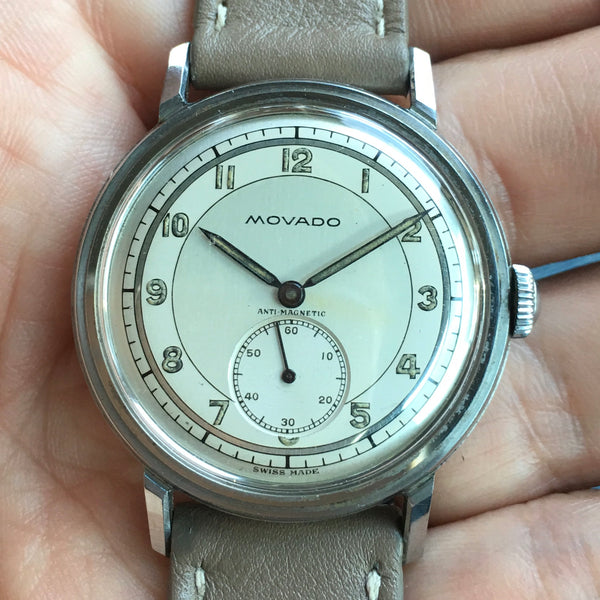 Movado - Antimagnetic waterproof stainless steel FB signed