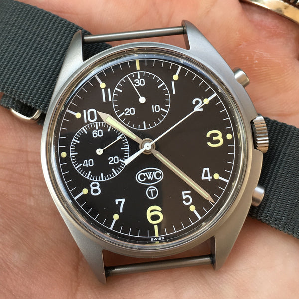 CWC - Chronograph by Silvermans Nato British Army signed 80s-90s