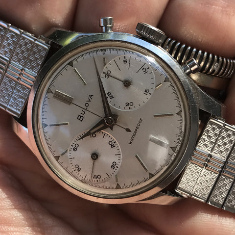 Bulova - Chrono 1950s one piece case Heuer-Leonidas Caliber
