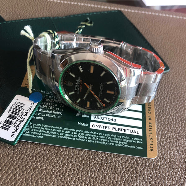 Rolex - Milgauss Ref.116400GV green glass full set