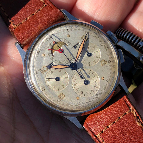 Universal Genève - 1940s Tri-Compax s/s moonphase chronograph