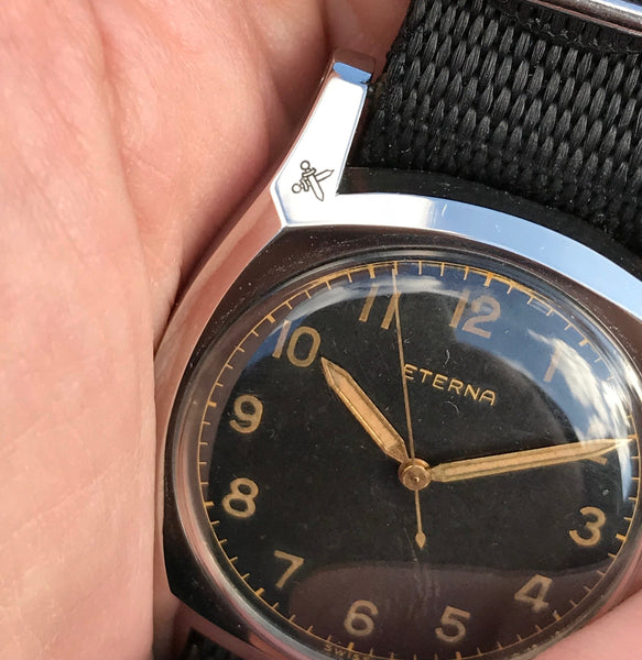 Eterna - Cuscion case 1940's gilt dial