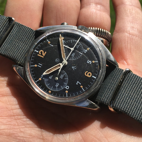 CWC - Asymmetrical Chronograph Royal Air Force marked Valjoux 7733