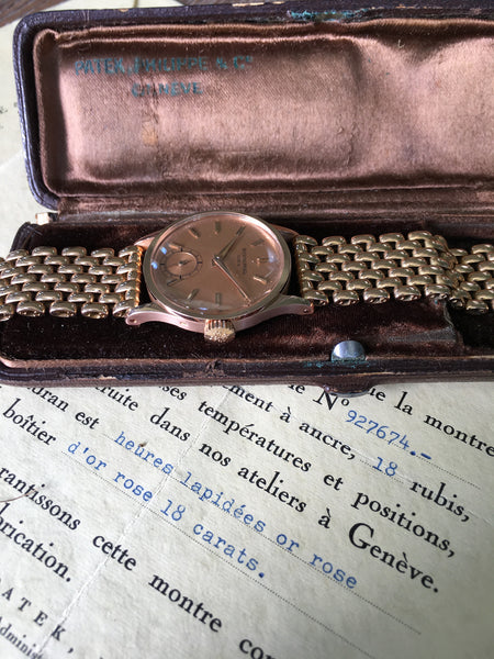 Patek Philippe - Ref. 96 rose gold long logo 1945 Full Set