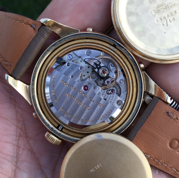 Gubelin - Triple calendar moonphase 18kt oversize Automatic 1950 ca