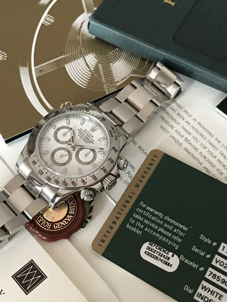 Rolex - Daytona Cosmograph Ref. 116520 box and papers white dial 2008
