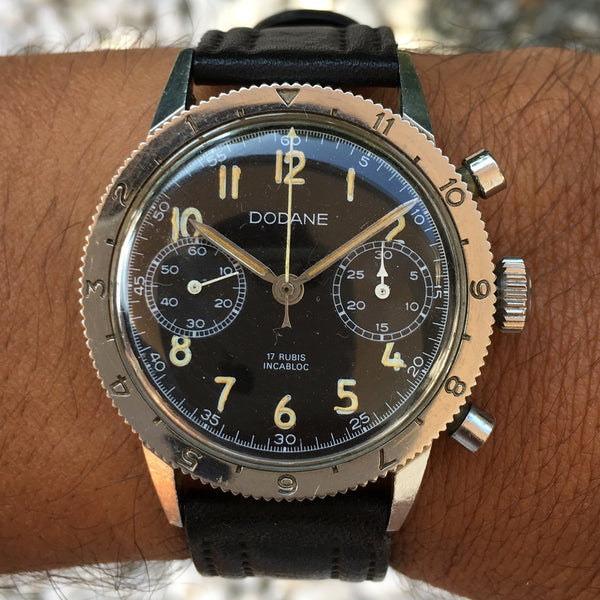 Dodane - French Flyback chronograph civilian version Valjoux 222 3 star Cetehor