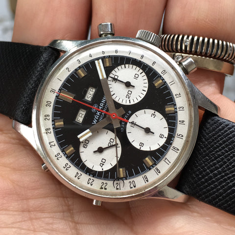 Wakmann - Chrono complete calendar 60s movement Ref. 723 mint condition