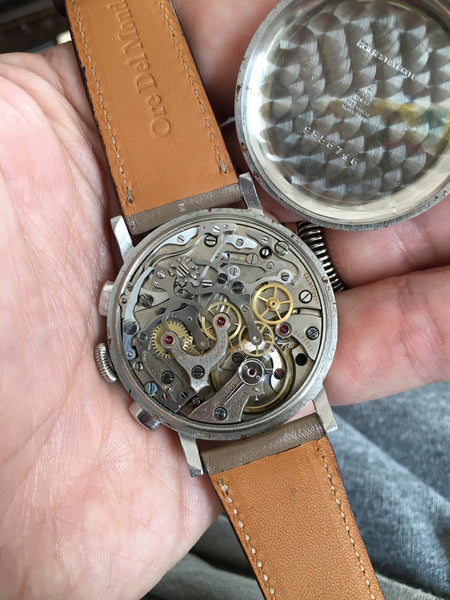 Omega - Chrono Telemetric Scale three piece snap-case 40s Cal. 33.3