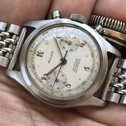 Mulco - Chrono  Landeron Caliber one piece case from the 1940s