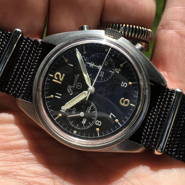 Precista -  Asymmetrical Chronograph Royal Air Force marked Valjoux 7733