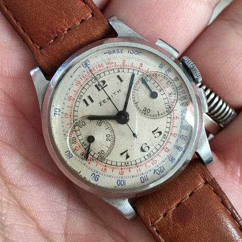 Zenith - Chrono Cal.122 32mm 50s Telemetric and Tachometric scale