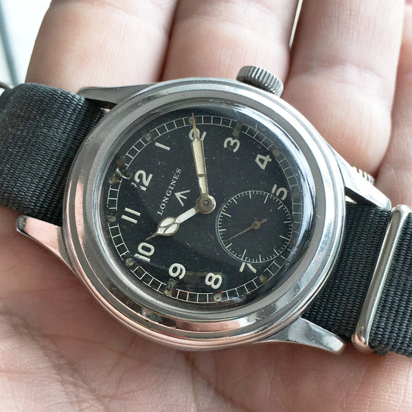 Longines - WWW signed British Army 40s self winding caliber Ref.1268z