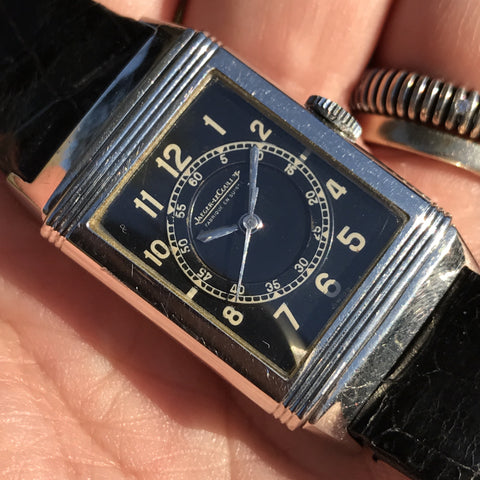 Jaeger LeCoultre - Reverso 1940 with rare black dial - ON HOLD