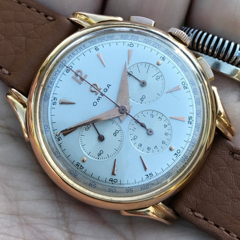Omega - Chrono 18kt yellow gold oversize Caliber 321
