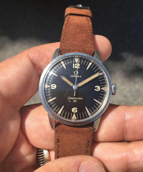 Omega - Seamaster 30 Ref.135.007 Pakistan Air Force manual winding Railmaster graphics