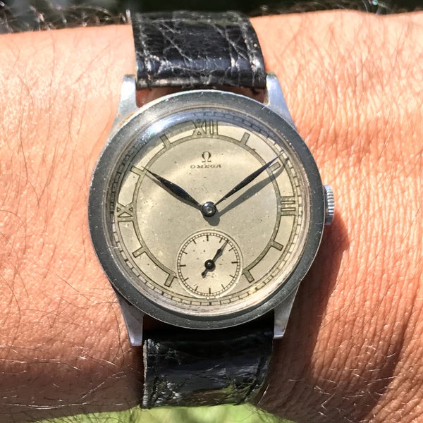 Omega - Calatrava from the 1930s sector dial steel case