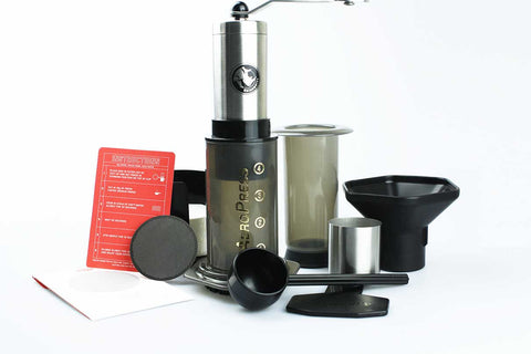 Aeropress + Able Disk + Rhinowares Coffee Grinder