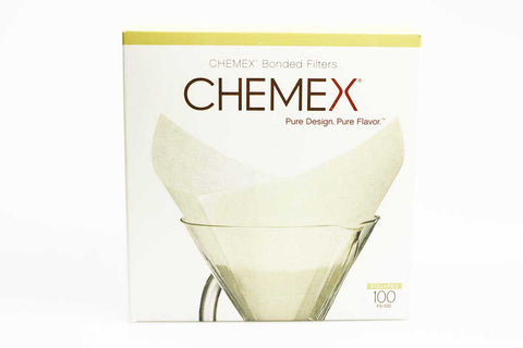 Chemex 6+10 Cup Filters - Square Prefolded