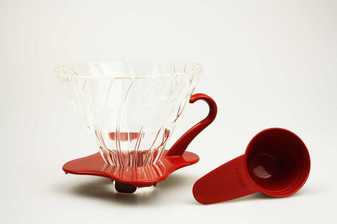 Hario v60 Glass Dripper Red