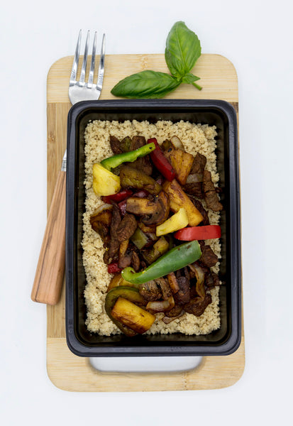 Hawaiian Beef Stir-Fry and Couscous