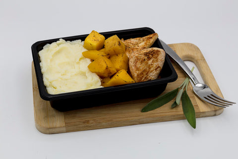 Chicken Breast Potato Mash and Roasted Butternut