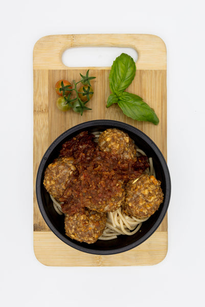 Vegeterian Meatballs with Spaghetti