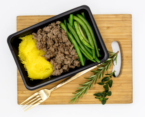 Lean Beef Mince, Gem squash and Green Beans