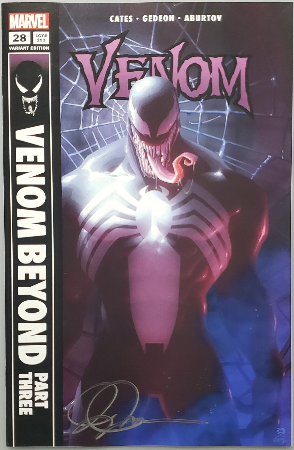 VENOM #28 ALEX GARNER COVER C VARIANT SIGNED BY ALEX GARNER