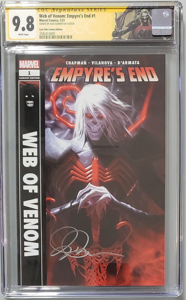 WEB OF EMPYRES #1 ALEX GARNER VARIANT COVER A CGC SIG SERIESS 9.8