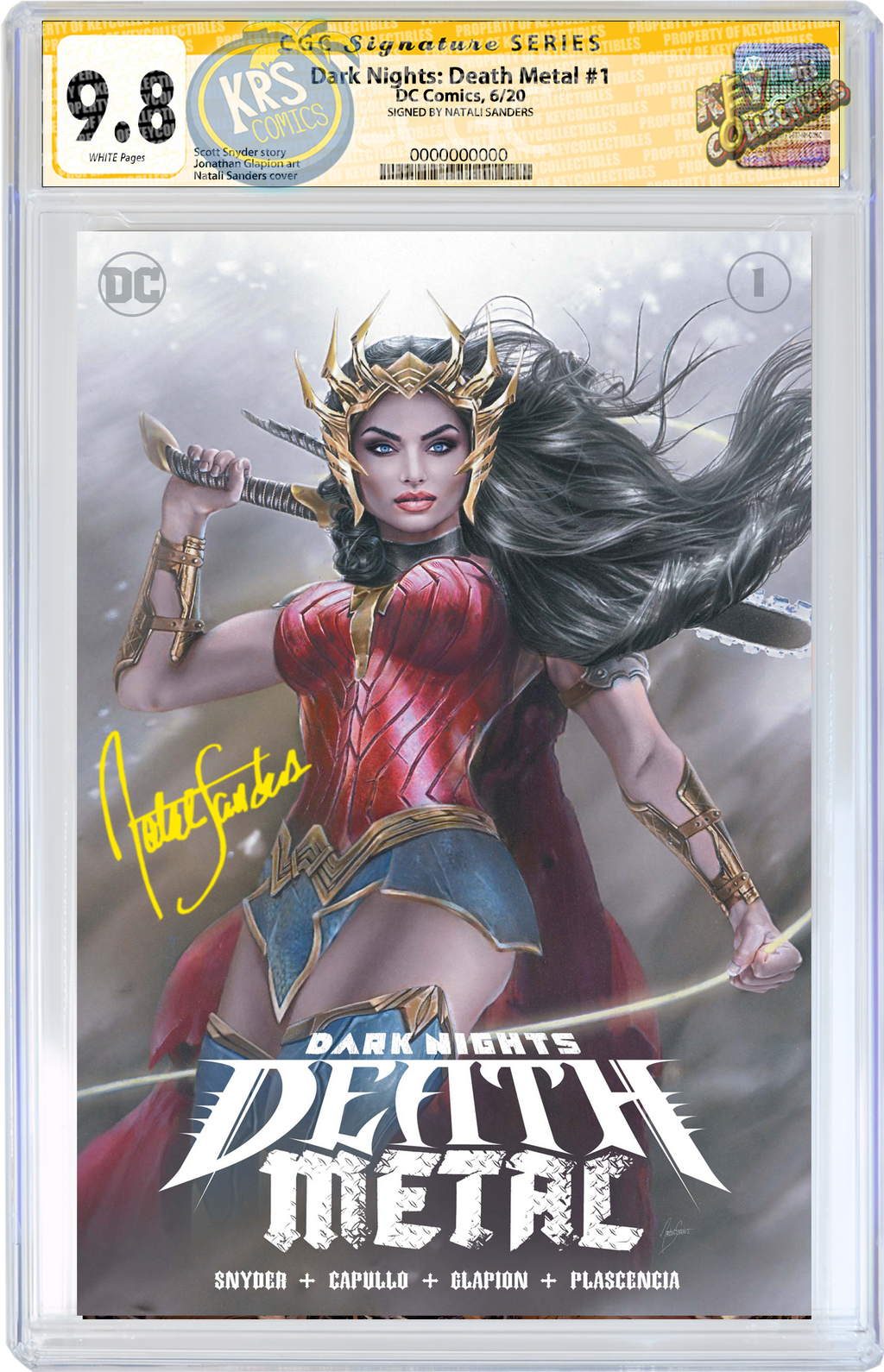 DARK NIGHTS DEATH METAL #1 (OF 6) NATALI SANDERS CGC SIG SERIES OPTIONS