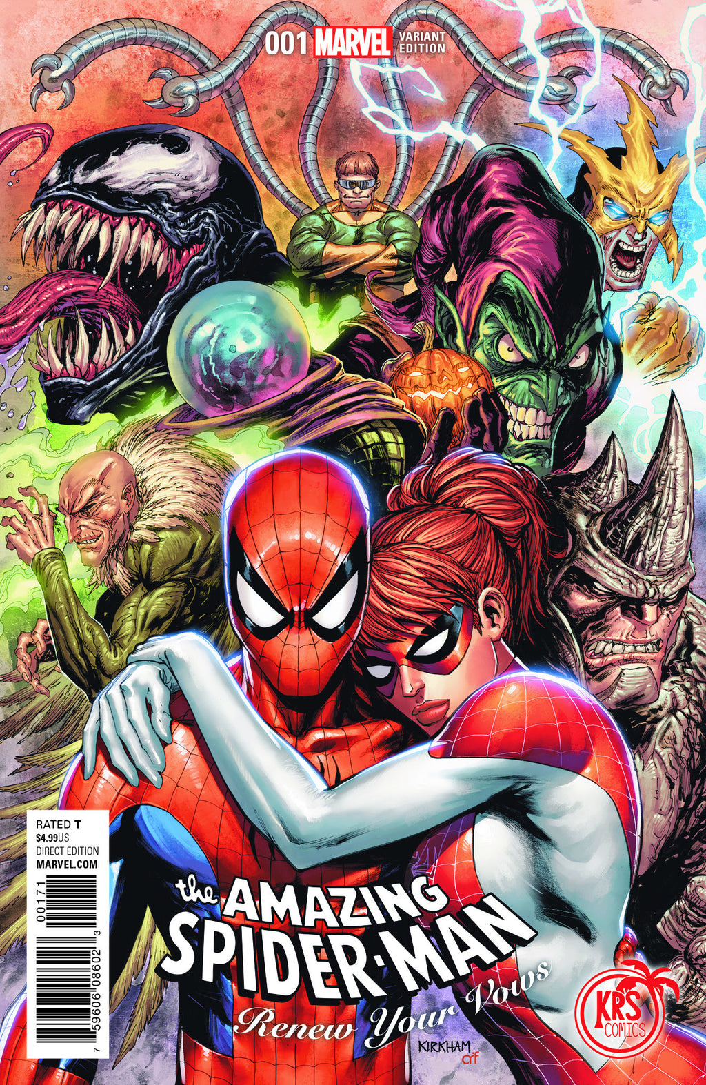AMAZING SPIDER-MAN RENEW YOUR VOWS #1 KRS COMICS EXCLUSIVE TYLER KIRKHAM VARIANTS