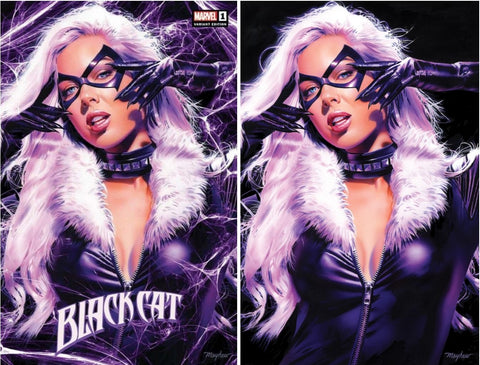 BLACK CAT #1 MIKE MAYHEW VARIANTS
