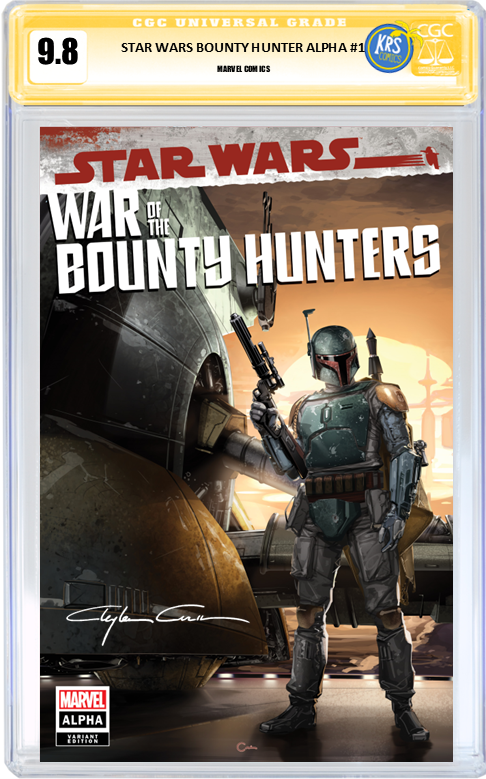 STAR WARS WAR OF THE BOUNTY HUNTERS ALPHA #1 CLAYTON CRAIN VARIANT CGC OPTIONS