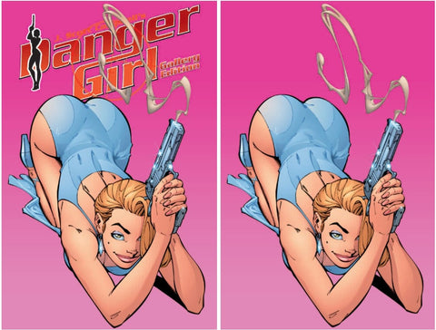 J SCOTT CAMPBELL DANGER GIRL GALLERY EDITION SMOKING GUN PINK VARIANT